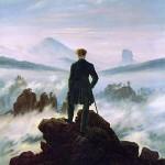 """""""Caminante sobre el mar de nubes"""" de Caspar David Friedrich"""