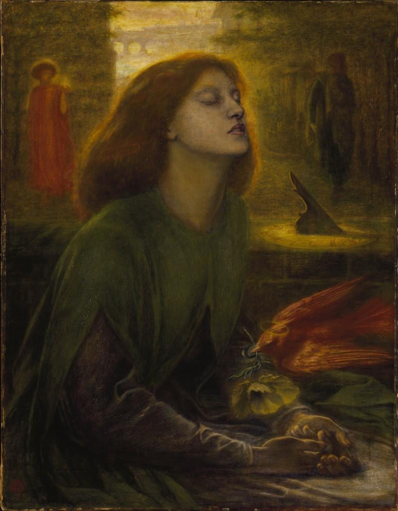 Dante Gabriel Rossetti. Beata Beatrix. 1870. Tate Gallery. Img. Wikipedia