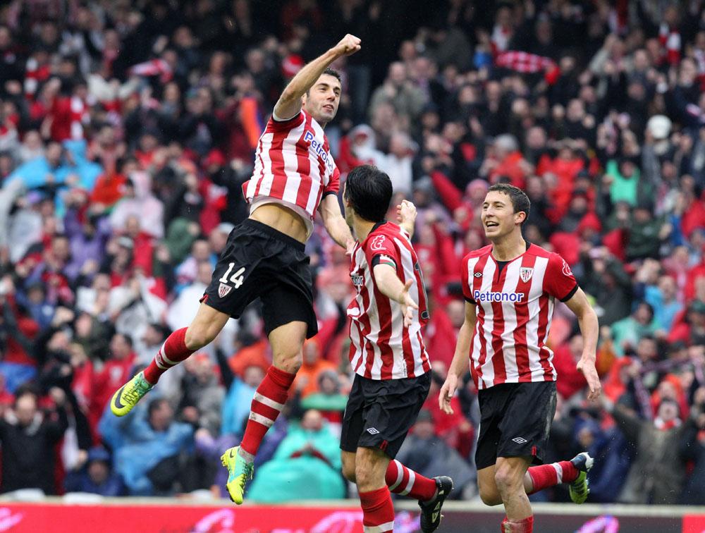 Markel festeja uno de los 13 goles que logró en la temporada 2011-2012. Foto: EFE.