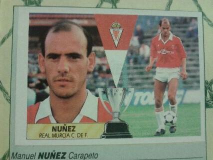 Este cromo es de 1987, de un año antes de la llegada de Manu Núñez a nuestro equipo.