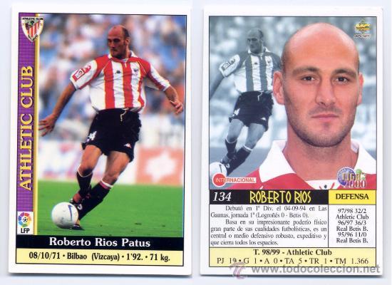 La imagen, que pertenece a la web todocoleccion.net, no deja lugar a la duda: Roberto Ríos era calvo ya desde bien joven.