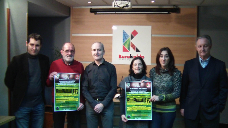 Presentación del partido solidario entre veteranos del Barakaldo y el Athletic.