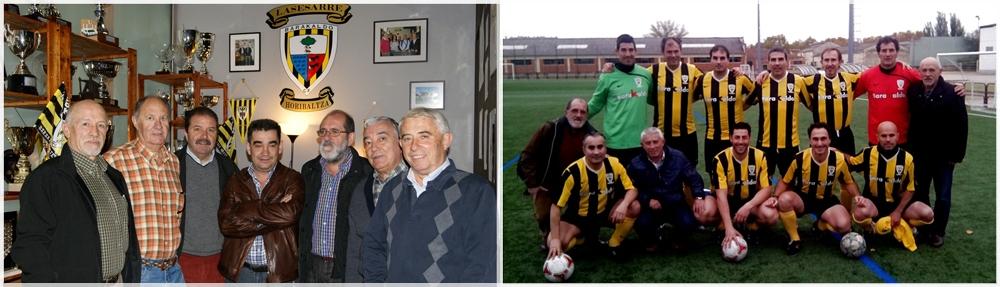 Algunos miembros de la asociación 'Lasesarre Horibaltza'. Foto: www.barakadlcf.com