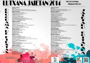 Programa fiestas de Lutxana 2014. Foto: Ayuntamiento de Barakaldo