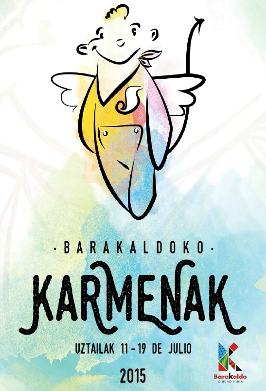 Cartel Fiestas del Carmen 2015 Barakaldo