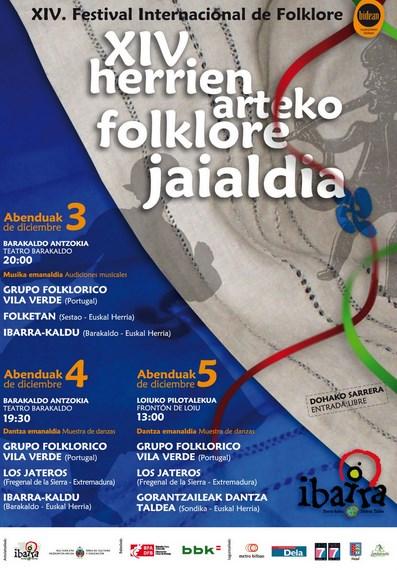 Cartel del Festival de Folklore de Barakaldo