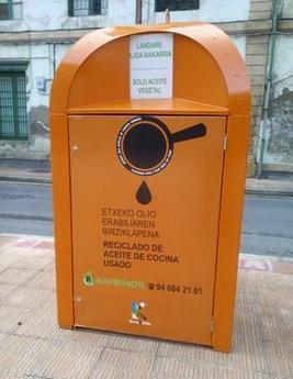Contendor de reciclaje de basura. Foto: barakaldo.org