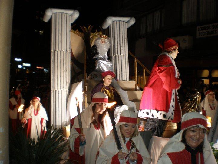 Kaixo Basauri compartió esta imagen de la cabalgata de los Reyes Magos de hace unos años.