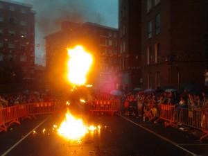 En imagen, la quema de la Sorgina.