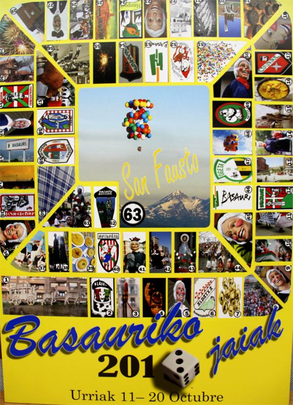 Este es el cartel anunciador de las fiestas de Basauri 2013. Autor: Urtzi Zarate