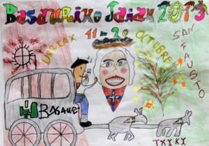 Este es el cartel ganador txiki de las fiestas de Basauri 2013. Autor: Eneko Lázaro