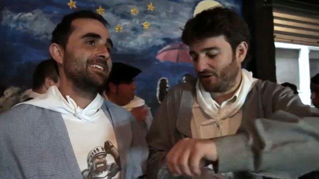 Gorka Otxoa y Borja Pérez en fiestas de Basauri