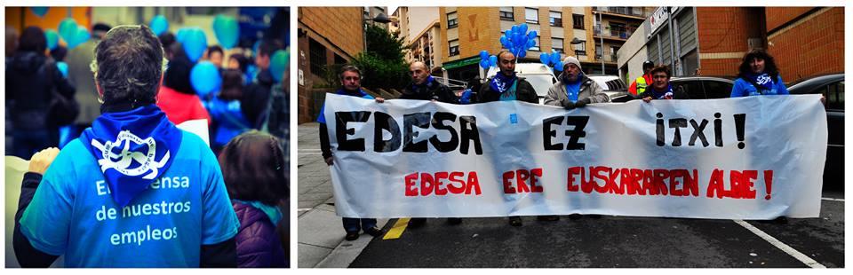 Protesta de los trabajadores de Edesa