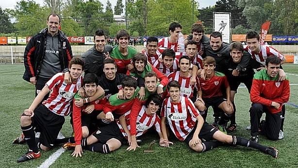El Athletic Club cadete que venció el torneo en 2013. Foto: deia.com