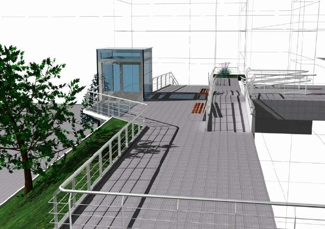 Futuro ascensor Federico MayoII. Foto: Ayuntamiento de Basauri