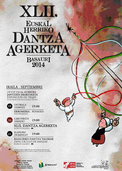 Cartel del Dantza Agerketa de Basauri 2014