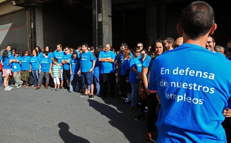 Una de las últimas concentraciones de extrabajadores de Edesa. Foto: EiTB