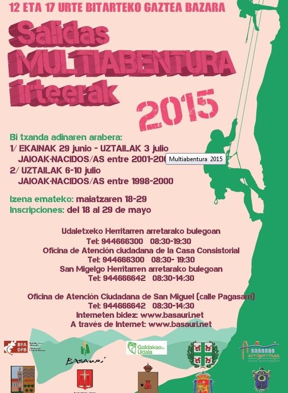 Cartel colonias multiaventura 2015