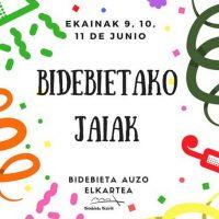 Cartel de las fiestas de Bidebieta. Imagen: Asociación de Vecinos de Bidebieta
