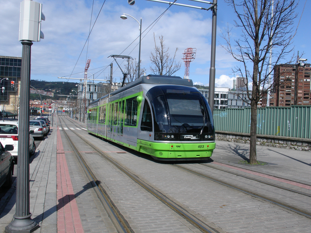 El tranvía de Bilbao. Foto: Maite Gorrochategui