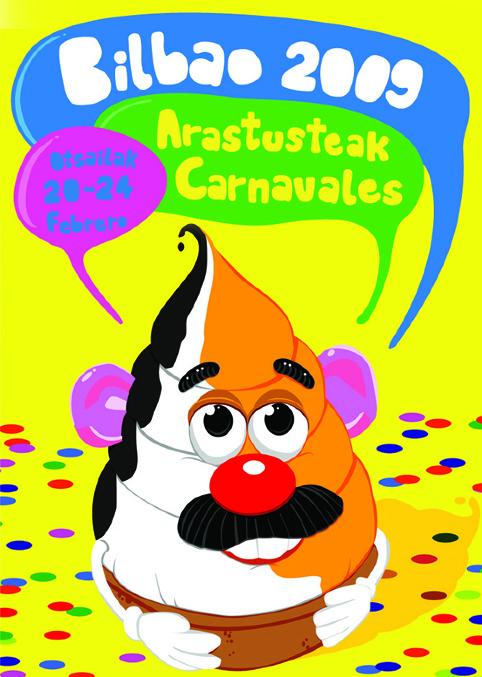 Cartel de Carnavales de 2009. Don Carolino. Foto: Jokin de Cerio