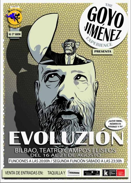 El cartel del último espectáculo de Goyo Jiménez. Foto: Teatro Campos