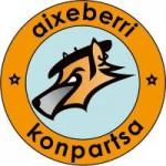 Logotipo de Aixeberri. Bilboko Konpartsak.