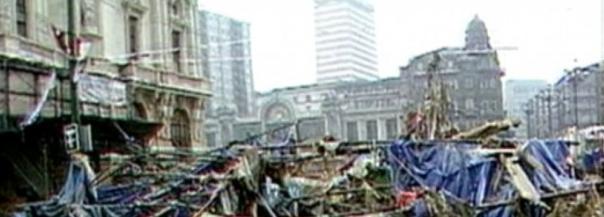 Imagen tras la riada. Foto: 1983 Euskadi Urpean.