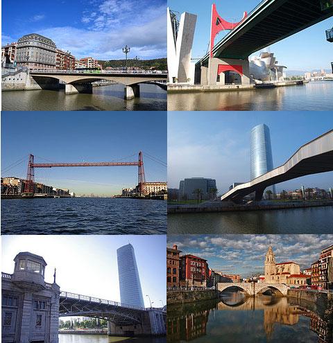 Montaje fotos puentes de Bilbao.