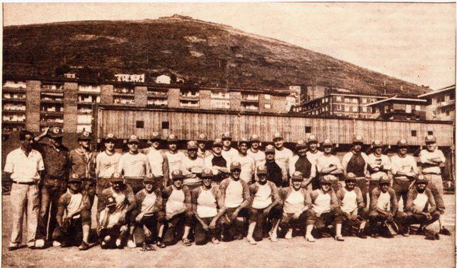 El San Inazio Kirol Taldea en sus inicios. Foto: saninaziobeisbol.net
