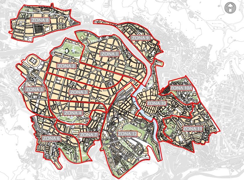Plano zonas OTA Bilbao. Foto: bilbao.net