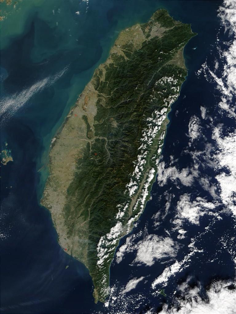 Taiwán (fotografía de la NASA; fuente: Wikipedia)