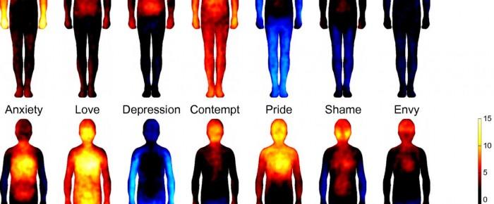 Los mapas corporales de las emociones