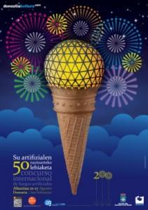 Cartel fuegos artificiales de San Sebastián