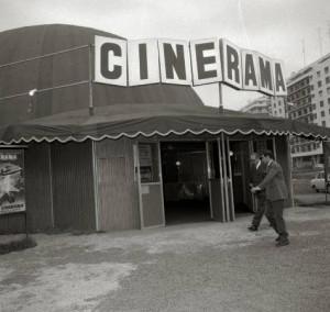 Cine portátil en Amara. Fotos antiguas Donosti 6