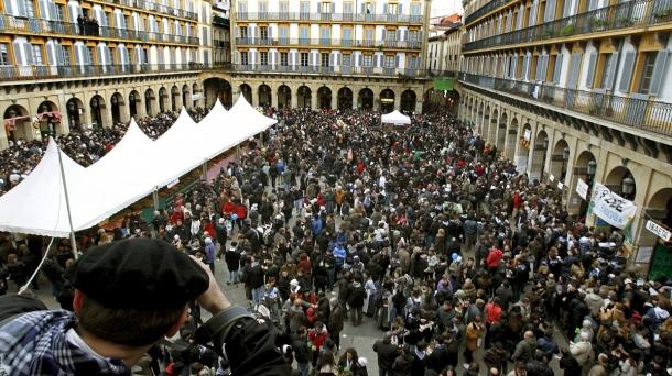Feria de Santo Tomas en Donostia. Foto: eitbcom