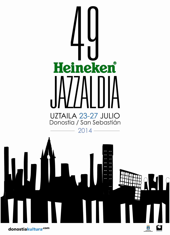 Cartel anunciador del Festival de Jazz de Donostia 2014