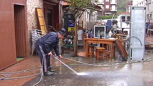 Inundaciones en Martutene. Foto: eitb.com