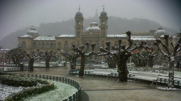 Donostia nevada en 2013. Foto: Lourdes del Valle