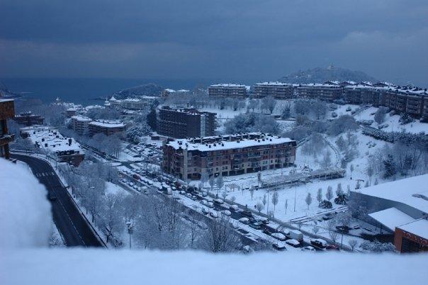 Nevada de enero de 2009 en Donostia. Foto: Enea Otermin