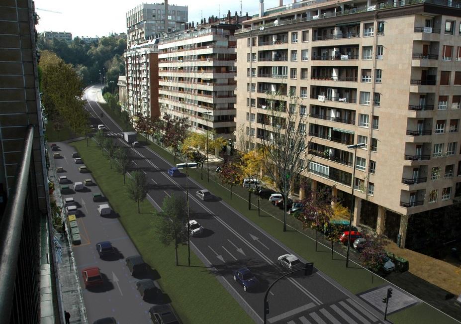Así será la futura calle Carlos I, en Amara I Foto: gaur.donostia.org/