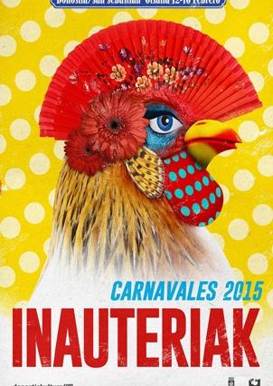 Cartel Carnaval 2015 Donostia. Autor: Antoni Pontí