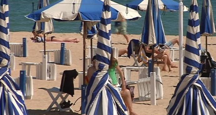 Toldo de las playas de Donostia