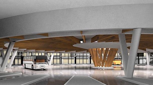 Recreación de la futura estación de autobuses de Donostia. Foto: EITB