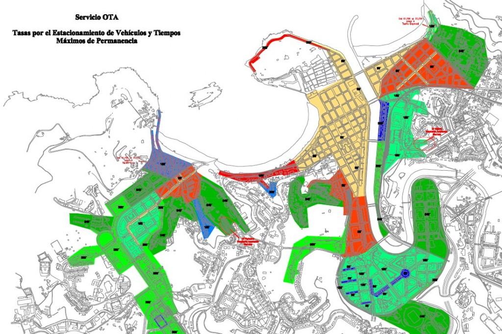 Mapa zonas OTA Donostia