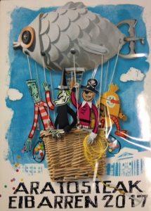 Cartel anunciador de los carnavales 2017 en Eibar. Foto: Ayuntamiento de Eibar.