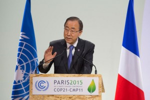 Secretary-General Ban Ki-moon attends/speaks at Opening of High-Level Segment of COP21.
