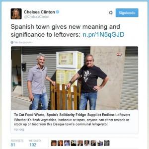 tweet Chelsea Clinton