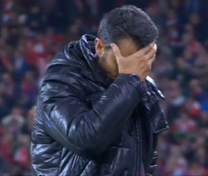 Erneto Valverde se lamenta del resultado del partido
