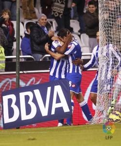 Gol del Deportivo (Foto: Lfp)